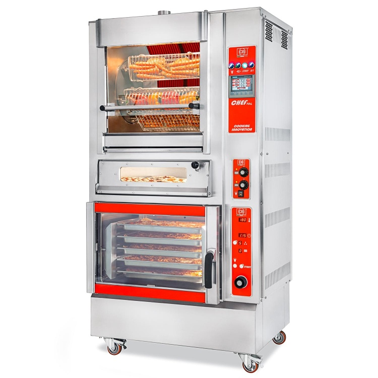 CB² COOKING BLOCK - CHEF 706 + FCE-UM + 4-PIZZA-CB-VI